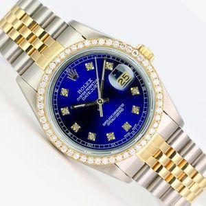 Rolex Watch Mens Datejust 16013 18k Gold & Steel
